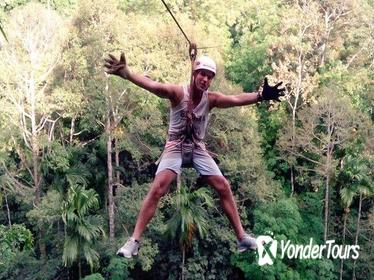 1-Day Rock Climbing and Treetop Zipline Adventure in Krabi