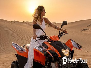 2-Day 30 Mins Quad Bike Safari with Dubai Creek Cruise Dinner