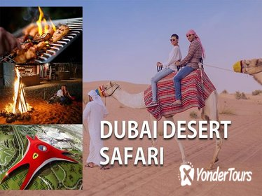 2-DAY DUBAI DESERT SAFARI WITH BBQ DINNER & FERRARI WORLD ABU DHABI