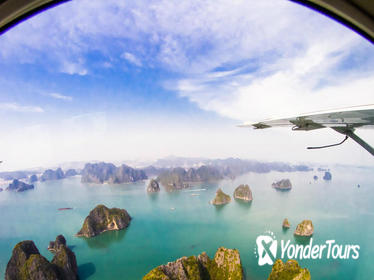 2-day Halong Bay Seaplane Flight and Emeraude Overnight Cruise from Hanoi