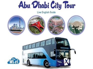 Abu Dhabi City Tour in a Double Decker Bus from Dubai with Lunch at 4* Hotel