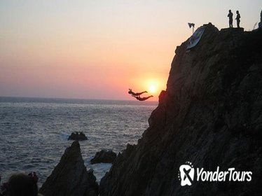 Acapulco Cliff Divers at Night