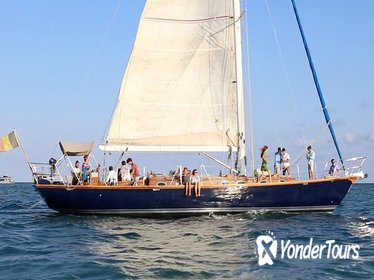 Authentic sunset sailing with exclusive cava aperitif