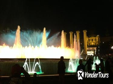 Barcelona by Night Electric Bike Tour and Magic Fountain Show