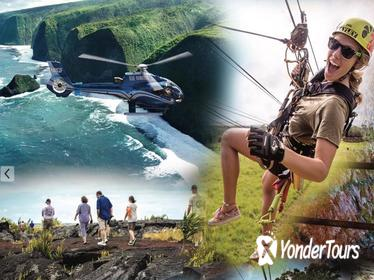 Big Island Adventure Combo: Helicopter, Zipline and Lava Tour
