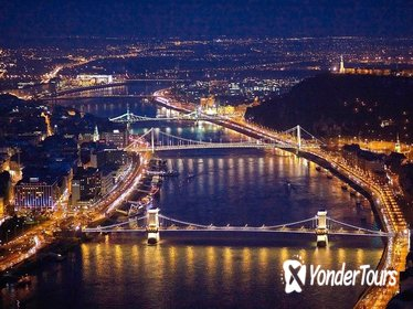 Budapest Night Flight by Private Plane
