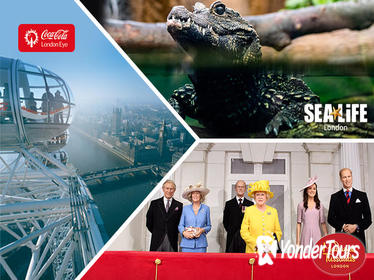 Combo Ticket: London Eye- SEA LIFE London -Madame Tussauds London