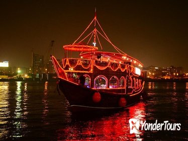 Dhow cruise Dubai Sun and Sky Dinner with Live DJ,Tanoora Show, Magic Show