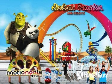 Dubai Parks - 01 Day any 02 Parks with Private transfers