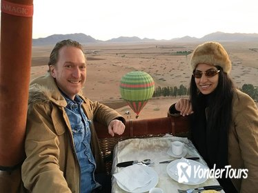 Exceptional Private Hot Air Balloon Morning Flight with Seated Air Breakfast