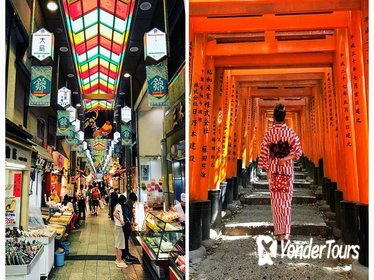 Food Walking Tour in Nishiki Market and Gion District with Fushimi Inari shrine