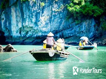 Full-Day Halong Tour Including Bamboo Boat Ride from Hanoi