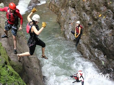 Gravity Falls Waterfall Jumping Canyoning from La Fortuna