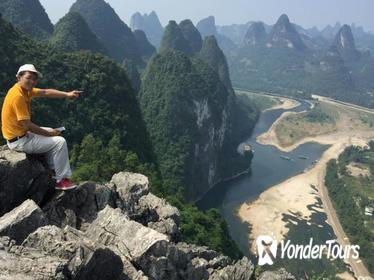 Guilin-Yangshuo one day tour of climbing up mountain& bicycle around countryside