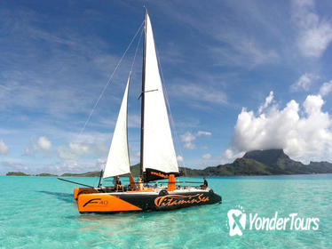 Half-Day Bora Bora Catamaran Sailing and Floating Bar Experience