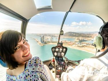 Helicopter Flight & BCN Highlights with Sagrada Familia and Camp Nou Small Group