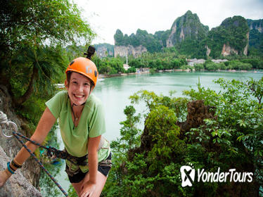 Intermediate-Advanced Half Day Private Rock Climbing Trip at Railay Beach