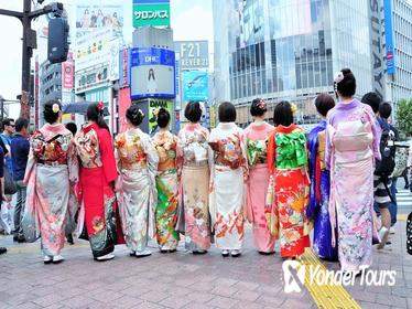 Kimono Rental and Photoshoot at the Shibuya Crossing