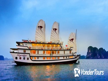 Luxury Halong Bay Cruise 2 Days-1 Night with 5 Star included transfer & pick up