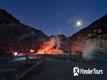 Night Guided Visit of Solfatara with Transfer and Brief Wine Tasting