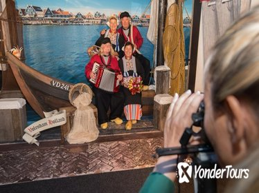 Picture in traditional Volendam costume - Volendam - Amsterdam Region