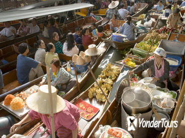 Private Damnoen Saduak Floating Market and Train Market Tour