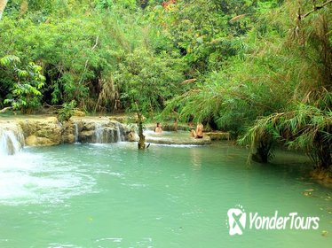 Private Day Trip to Pak Ou Cave and Kuang Si Waterfall from Luang Prabang