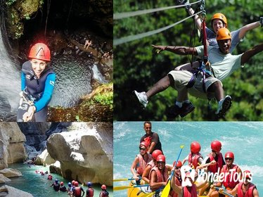 Rafting, Canyoning, and Zipline Adventure from Alanya