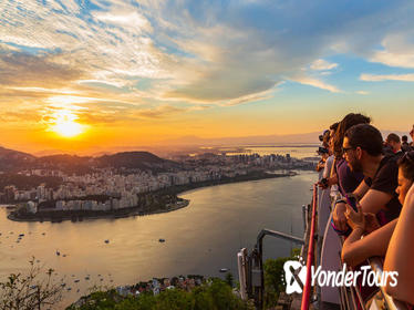 Rio Sunset Tour Including Sugar Loaf, Christ the Redeemer, Cathedral and Selaron