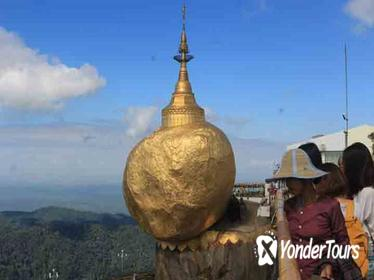 Small-Group Tour: Kyaiktiyo Pagoda and Bago from Yangon with Lunch