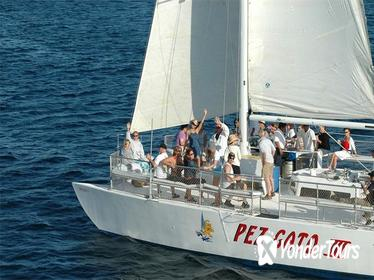 Sunset Party Cruise in Los Cabos aboard the Pez Gato