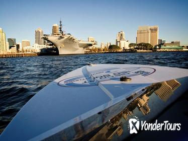 San Diego Harbor Speed Boat, Bike Ride and USS Midway Tour