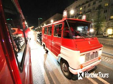 Warsaw Evening Pub Crawl and City Tour in Communist Fire Van