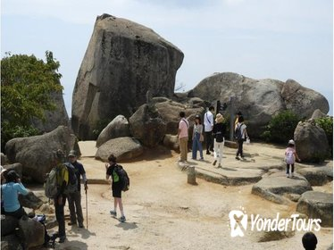 Climbing mountain-Misen in Miyajima with a Guide