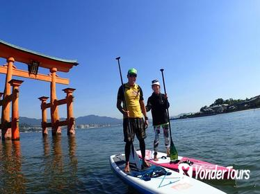 SUP Tour through the Great Torii gate of the Itsukushima Shrine