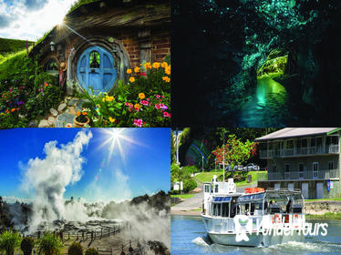 2-Day Hobbiton, Waitomo Caves, Rotorua Geothermal Valley & Hamilton Gardens