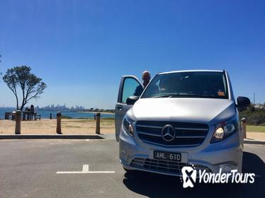 Private Half Day Melbourne City Tour with Local guide and Mercedes Transport