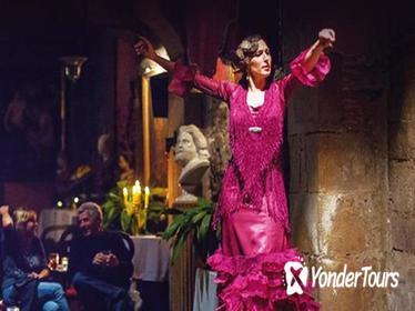 Barcelona Evening Flamenco Show and Gourmet Dinner with Premium Small Group