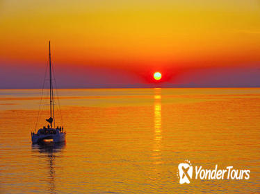 Santorini Sunset Luxury Sailing Catamaran Cruise with BBQ and Drinks
